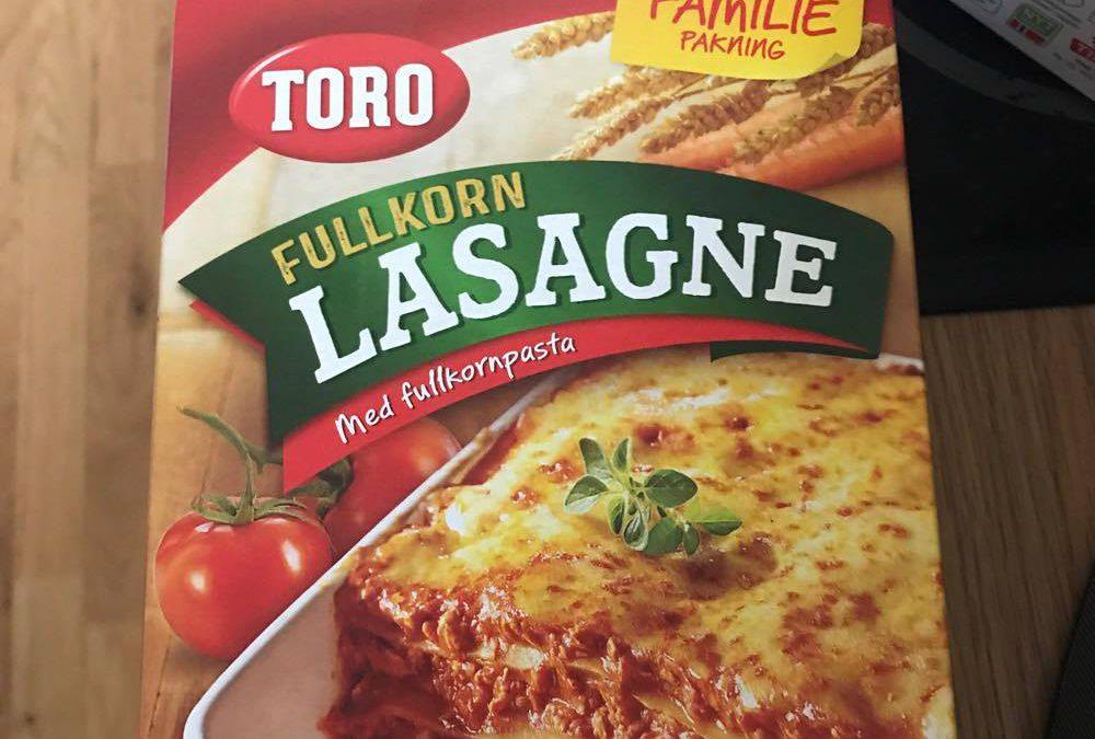 OBS! Egg i fullkorn lasagne.